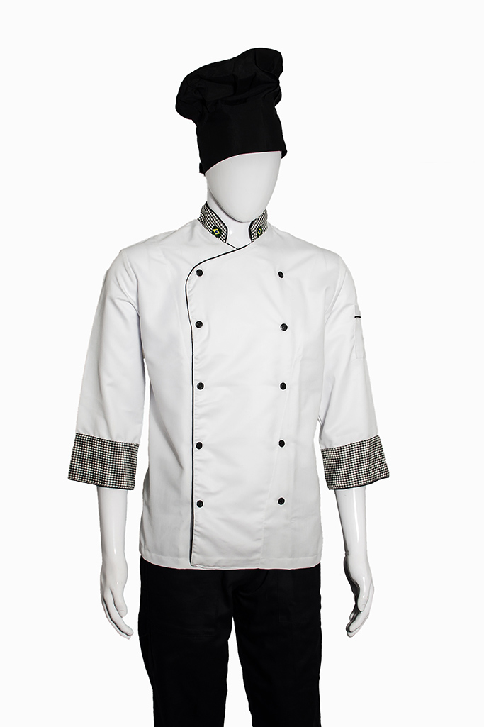Jaqueta de Chef Preta - Uniformes Restaurante Jaqueta Ideal